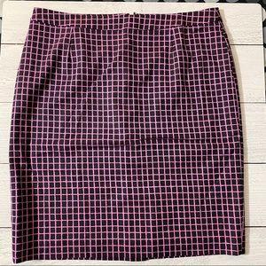 Halogen Purple and Black Skirt- Size 10